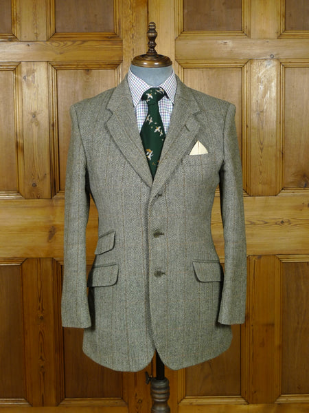 19/0835 vintage john g hardy windowpane check tweed jacket 40 regular