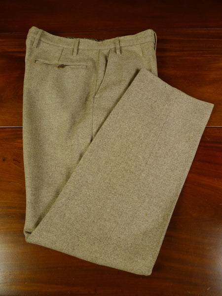 19/0840 vintage tailored beige donegal tweed trouser 37