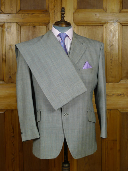19/0848 vintage bespoke tailor 3-piece suit for vintage revivals 46-47 short to regular