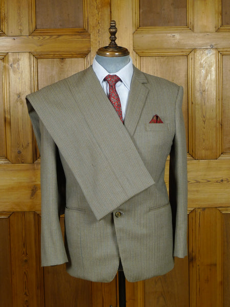 19/0847 vintage bespoke tailor canvassed brown pin-stripe suit for vintage revivals 40-41 short