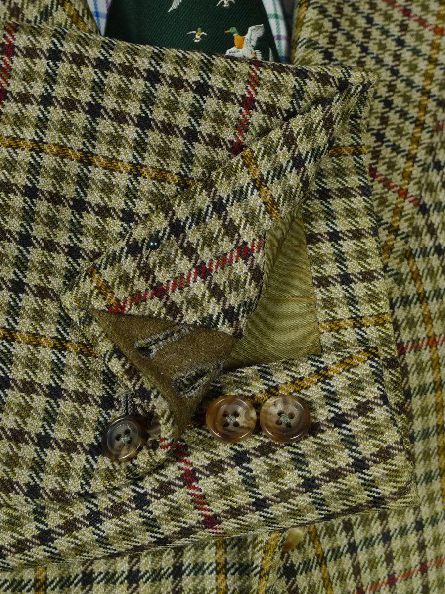 19/0891 vintage bespoke canvassed gun club check tweed jacket 45 short