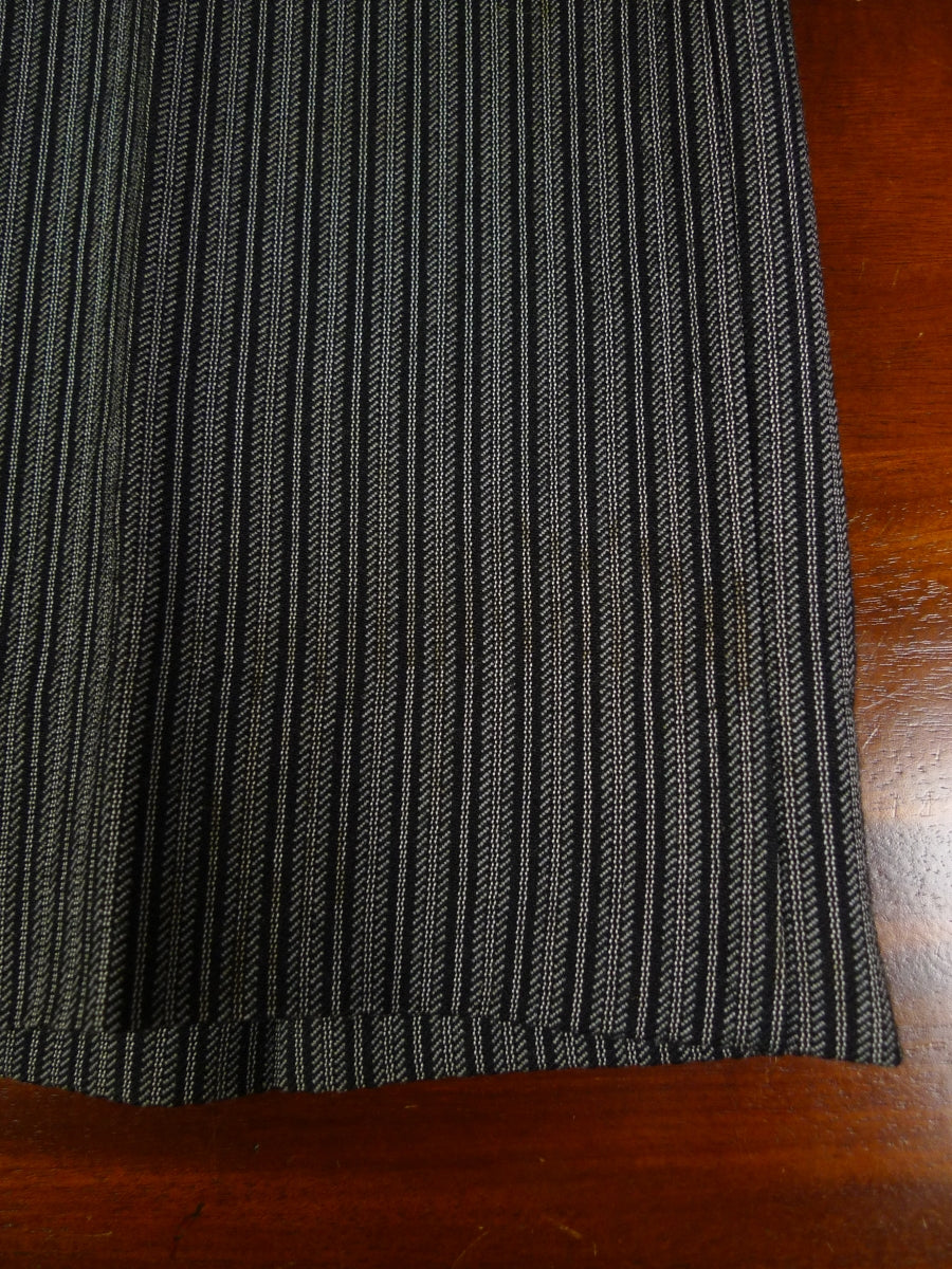 19/0956 vintage bespoke tailored 'cashmere stripe' high-rise worsted morning trouser 32