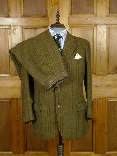19/0952 norton & sons savile row bespoke 1985 vintage brown wp check tweed shooting suit (breeks) 42 regular