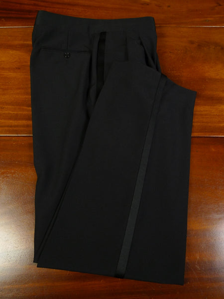 19/0986 near immaculate vintage lanvin boutique italian wool black evening trouser 31