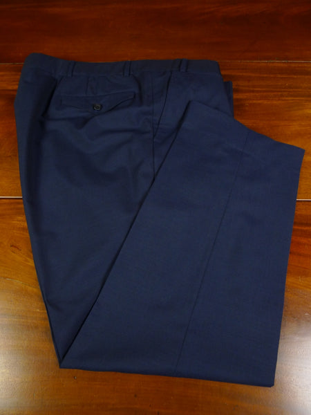 19/1083 2009 welsh & jefferies savile row bespoke blue mohair trouser 44