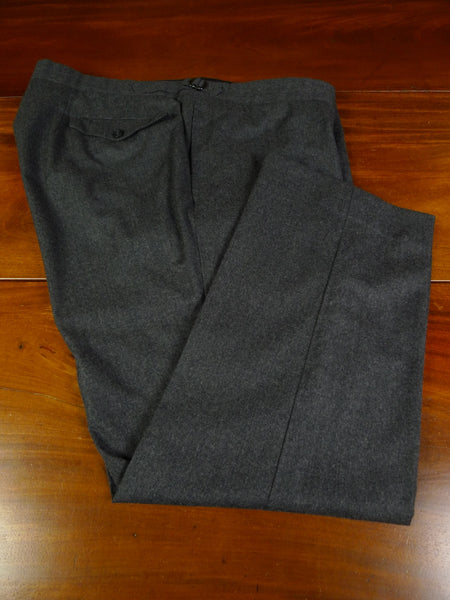 19/1534 immaculate savile row bespoke grey worsted flannel trouser 45