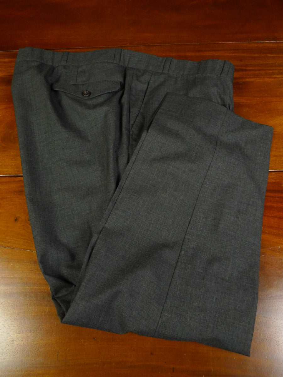 19/1080 immaculate 2008 welsh & jefferies savile row bespoke grey fine wool trouser 44