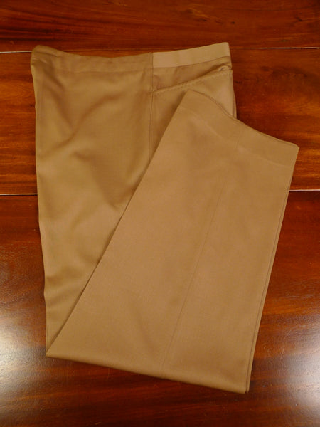 19/1153 immaculate vintage savile row bespoke tailored tan brown superfine wool trouser 39