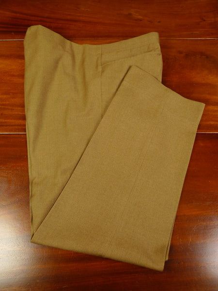 19/1151 vintage savile row bespoke tailored tan brown worsted trouser 40