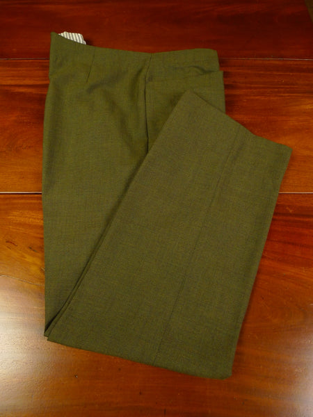 19/1165 immaculate vintage savile row bespoke high-rise green worsted trouser 38