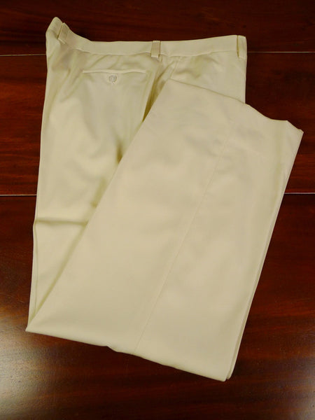 19/1254 best quality bespoke tailor made ivory white worsted trouser 40