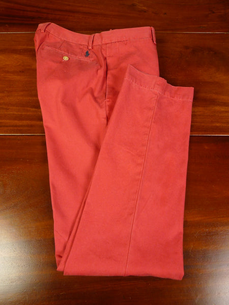 19/1258 new w/ tags polo ralph lauren 'nantucket red' cotton chino trouser 34