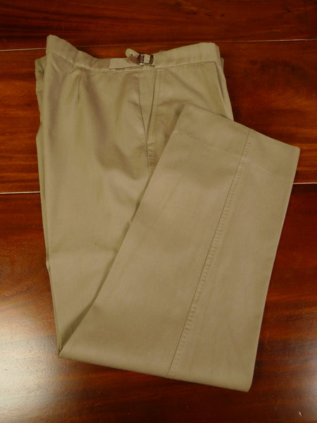 19/1273 vintage tailor made fawn brown worsted trouser 40