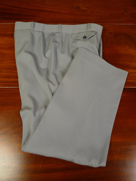 19/1272 vintage tailor made grey worsted trouser 36