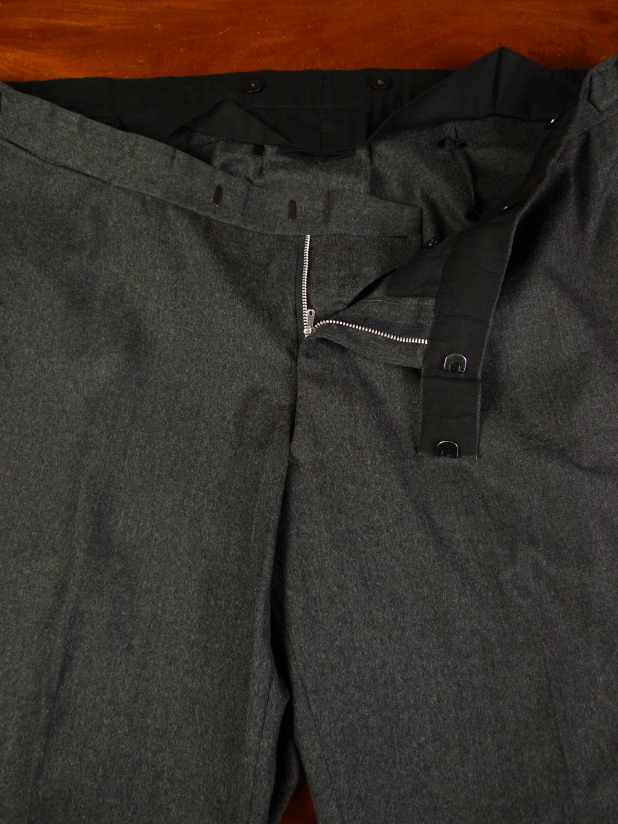 19/1338 malcolm plews savile row bespoke 2014 wool & cashmere grey flannel trouser 45