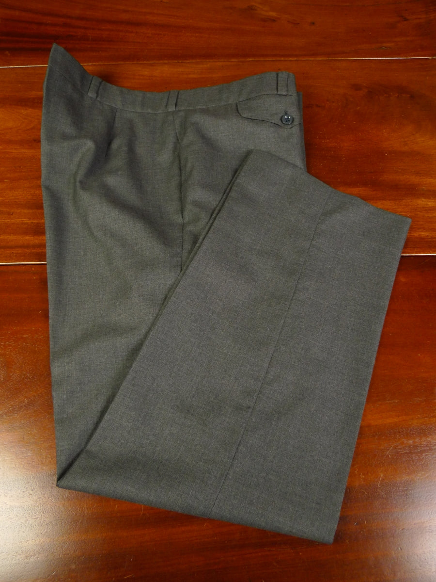 19/1274 immaculate vintage tailor made lightweight grey worsted trouser 39