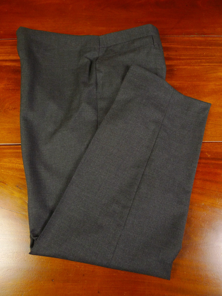 19/1280 immaculate vintage bespoke tailored grey wool high-rise trouser 39