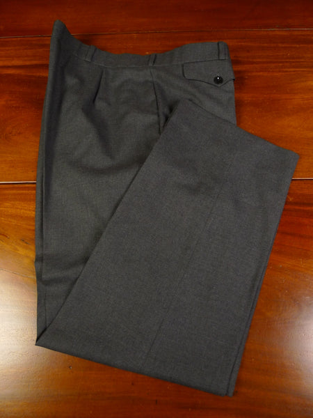 19/1288 immaculate vintage bespoke tailored grey worsted trouser 38