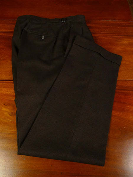 19/1298 vintage 1960s university tailors 2-tone brown worsted high-rise trouser 32
