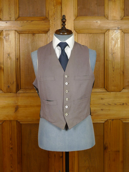 19/1297 vintage 1962 bespoke tailored grey doeskin wool morning waistcoat 42 short to regular