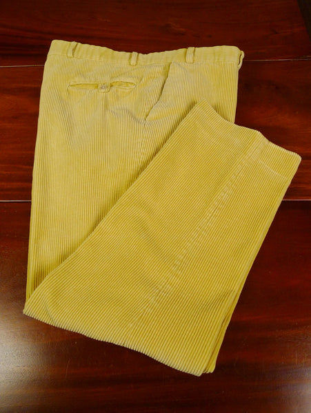 19/1322 quality canary yellow corduroy trouser w/ buttons for braces 41