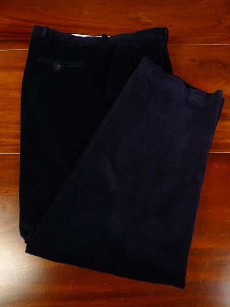 19/1321 immaculate quality navy blue corduroy trouser w/ buttons for braces 40