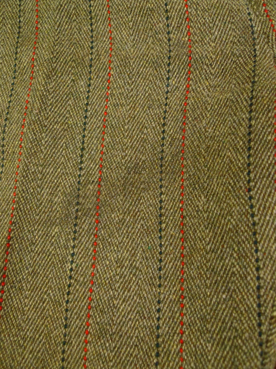 19/1336 vintage 3/4 lined green / red stripe derby tweed country trouser 38