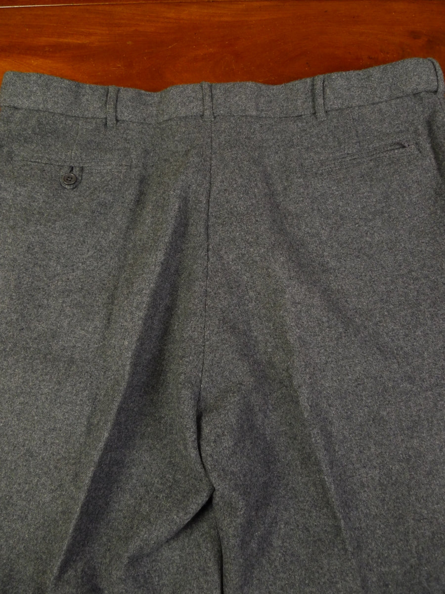 19/1333 immaculate peter christian grey wool & cashmere flannel trouser 42