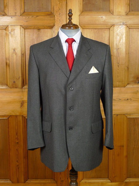 19/1500 immaculate crombie grey wool suit jacket blazer w/ blue linings 45-46 regular