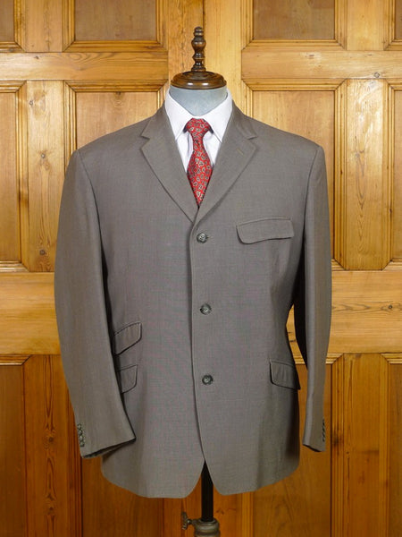 19/1330 superb genuine 1960s mod tonic mohair suit jacket w/ burgundy linings 45 short
