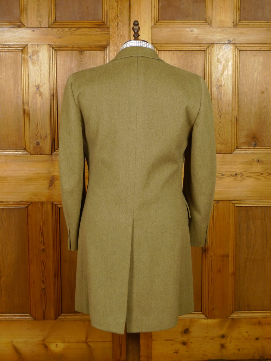 19/1382 vintage chester barrie heavyweight venetian wool covert style coat 40