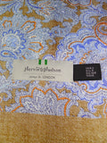 19/1378 immaculate harvie & hudson jermyn st paisley silk scarf (rrp £150)