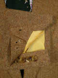 19/1401 immaculate malcolm plews savile row bespoke brown herringbone wool tweed sports jacket 46 short
