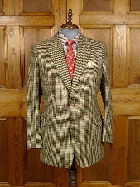 19/1398 immaculate 1988 welsh & jefferies savile row bespoke gun club check tweed jacket 42-43 regular