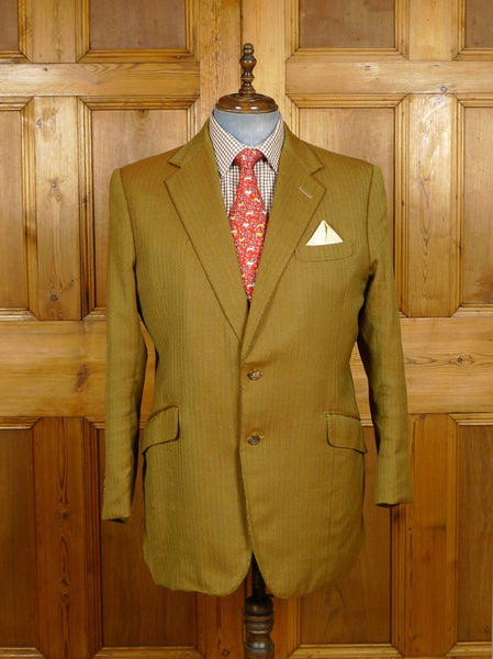 19/1415 welsh & jefferies 1995 2-tone brown herringbone solaro style blazer w/ burgundy linings 45 regular