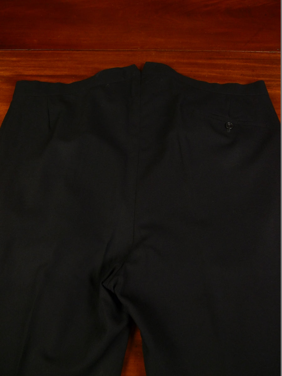 19/1404 immaculate 2012 welsh & jefferies savile row bespoke black barathea / silk satin d/b  dinner suit 45 short to regular