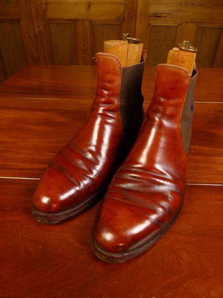 19/1426 wonderful vintage  john lobb russet brown leather jodhpur boot w/ trees UK 10 standard width