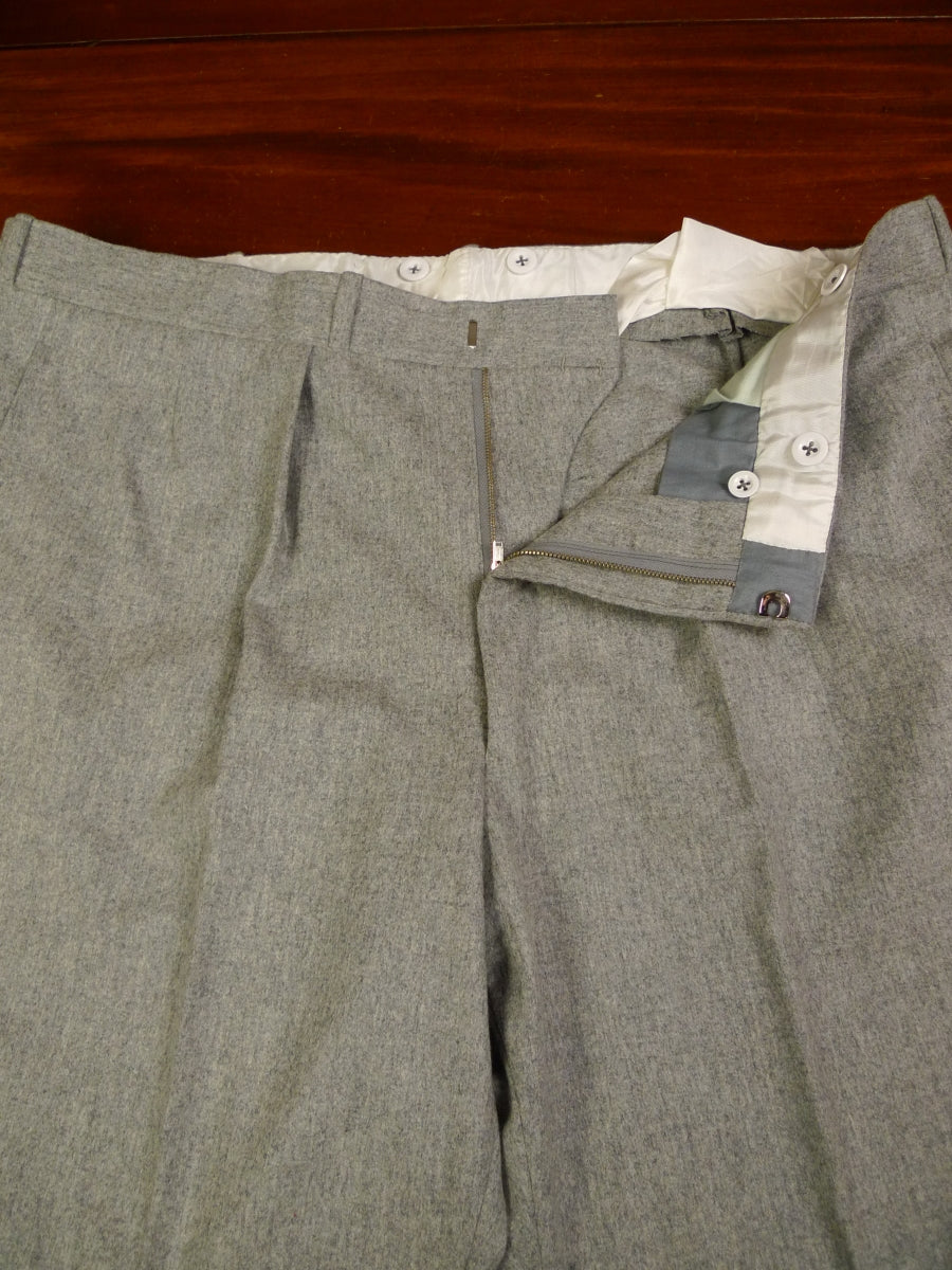 19/1439 immaculate 2014 welsh & jefferies savile row bespoke grey worsted flannel trouser 42