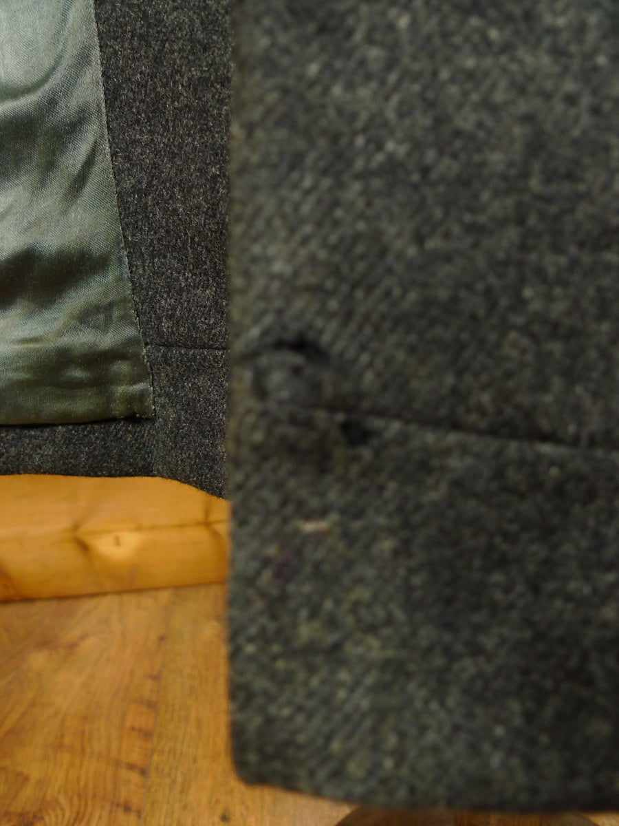 19/1477 genuine 1950s 1960s vintage crombie charcoal grey wool overcoat 46