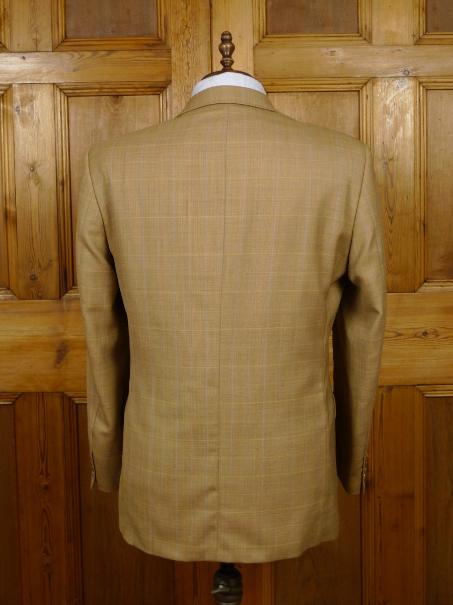 19/1543 douglas 'the business' tan wp check wool sports jacket 43 regular (rrp £175)