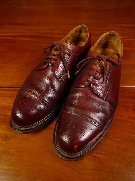 19/1557 superb vintage cheaney heavyweight tenterden brwon brogue country shoe uk 11