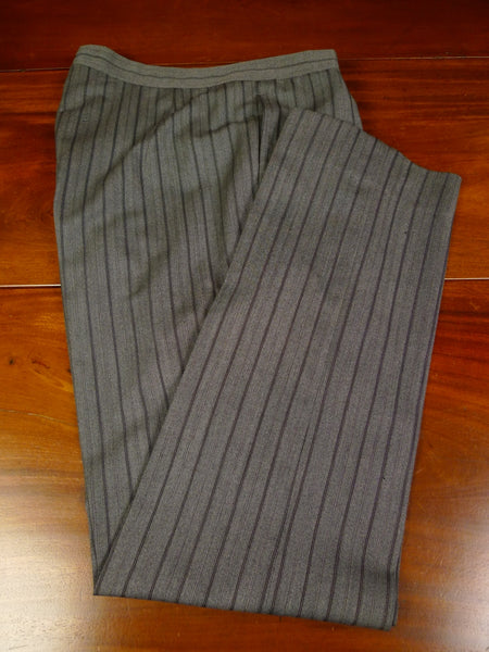 19/1587 vintage dege savile row bespoke cashmere stripe wool morning trouser 35