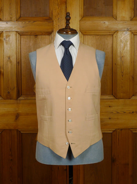 19/1603 vintage cordas & bright savile row bespoke buff brown morning waistcoat 44 regular to long