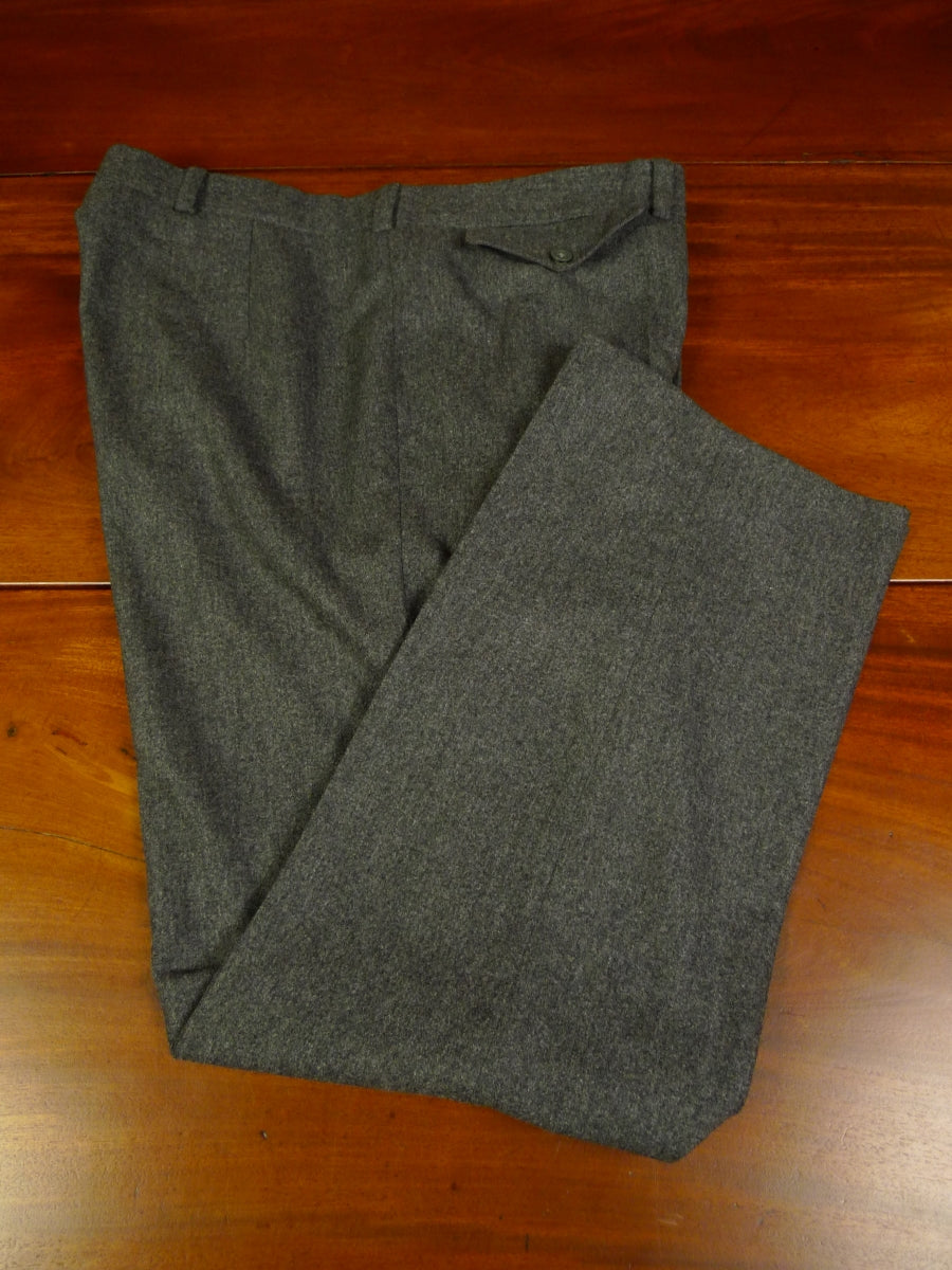 19/1616 immaculate savile row bespoke grey worsted flannel trouser 39
