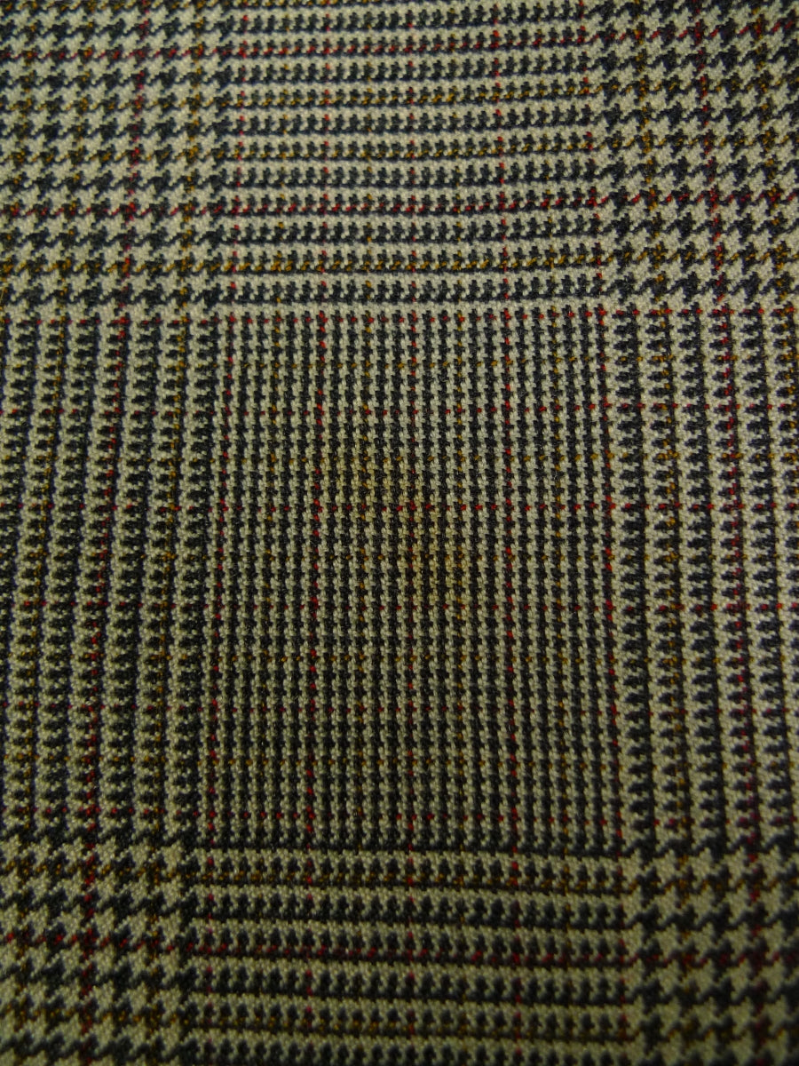 19/1612 vintage savile row bespoke prince of wales check worsted trouser 38