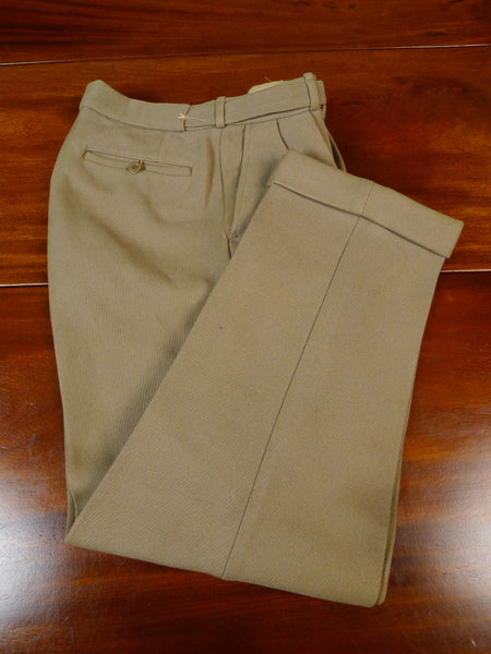 19/1647 vintage 1950s heavyweight harry hall tan beige cavalry twill country trouser 28