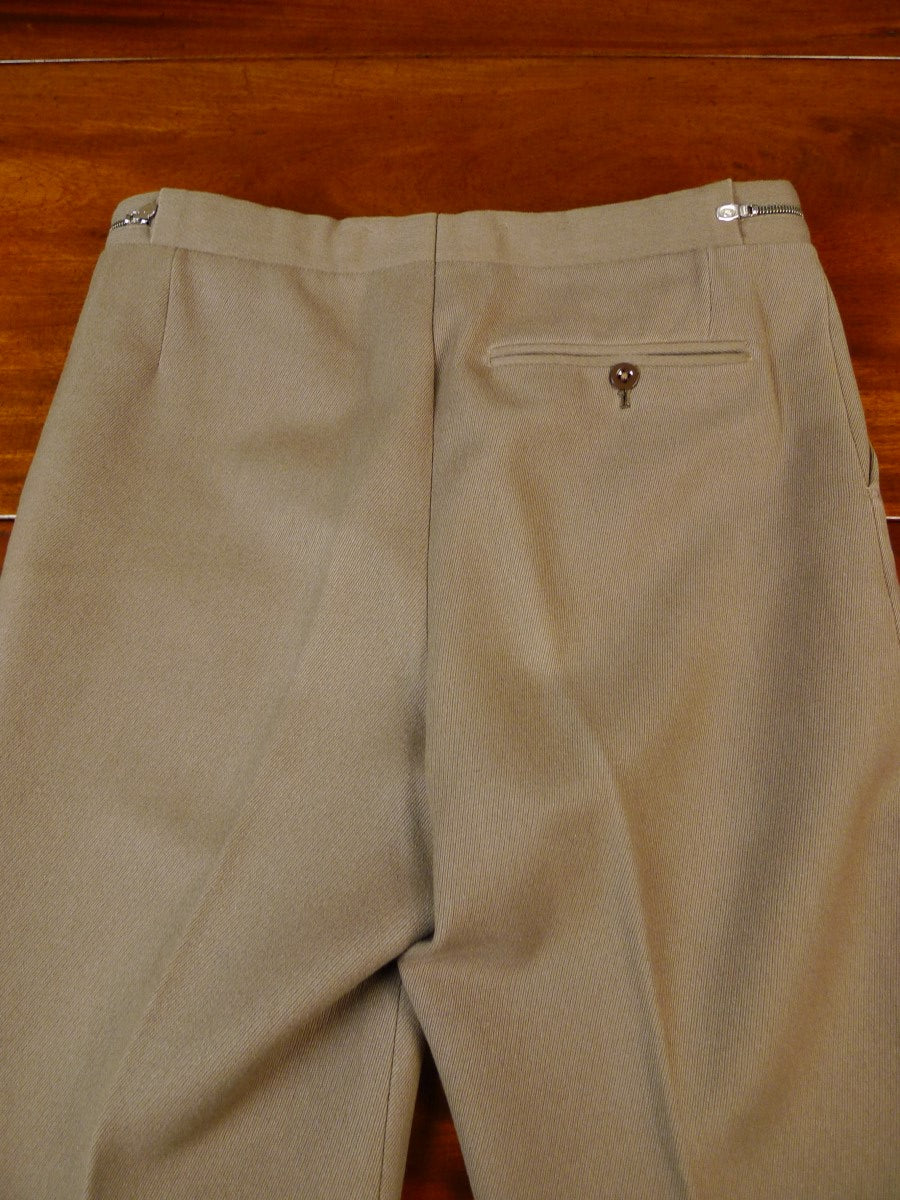 19/1648 vintage heavyweight tan beige cavalry twill country trouser 28-32