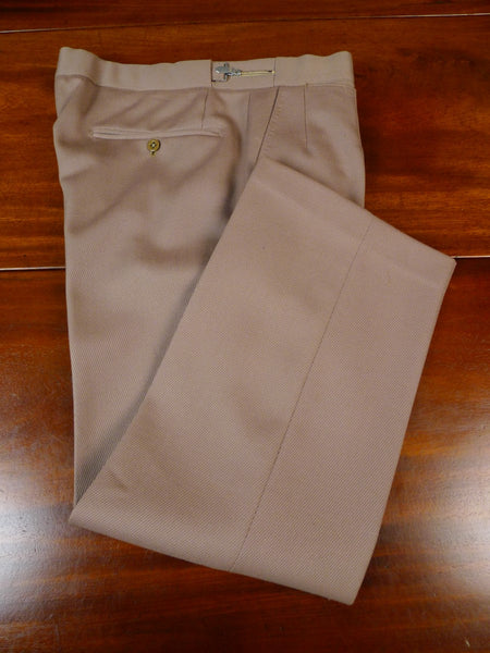 19/1650 vintage bespoke tailored tan beige cavalry twill country trouser 28-32