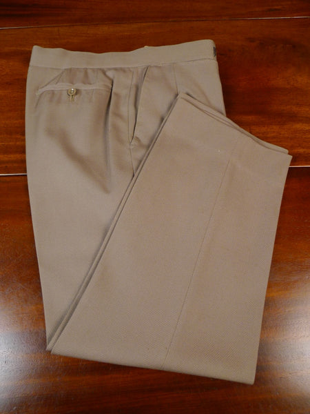 19/1649 vintage weatherill savile row bespoke tan beige cavalry twill country trouser 27-31