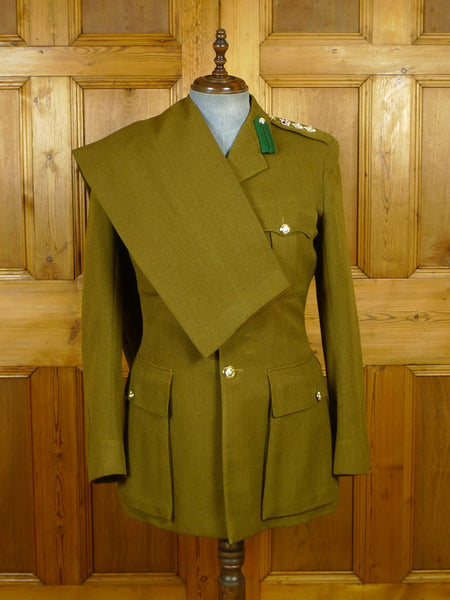 20/0101 vintage 1965 gieves savile row bespoke arm officer's uniform suit 41-42 regular to long